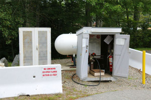 Propane Refill station at Colby & Gale.