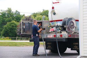 A propane delivery by Colby & Gale